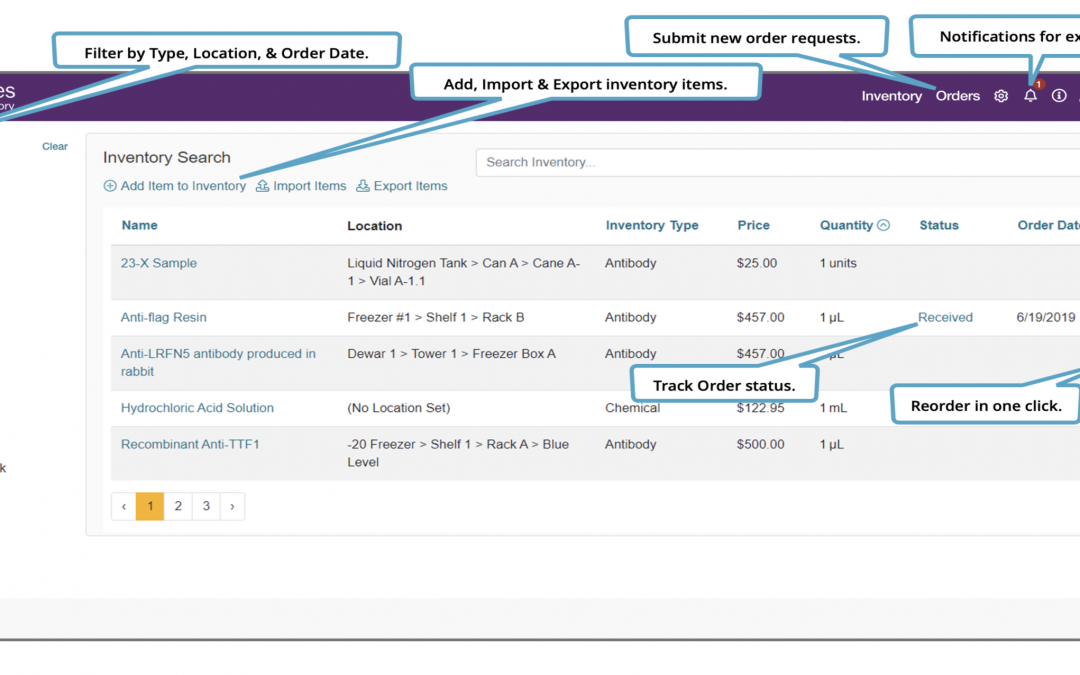LabArchives adds LabArchives Inventory to Data Management Suite