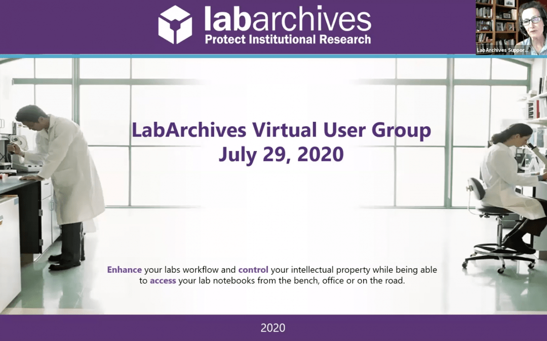 LabArchives Virtual User Group